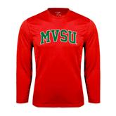 State Performance Red Longsleeve Shirt-Arched MVSU