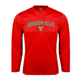 State Performance Red Longsleeve Shirt-Arched Mississippi Valley