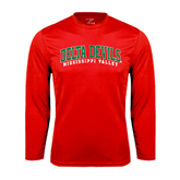 State Performance Red Longsleeve Shirt-Arched Delta Devils
