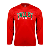 State Syntrel Performance Red Longsleeve Shirt-Arched Valley Delta Devils