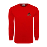 State Red Long Sleeve T Shirt-Devils