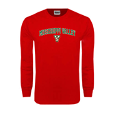 State Red Long Sleeve T Shirt-Arched Mississippi Valley