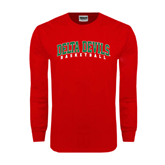 State Red Long Sleeve T Shirt-Basketball