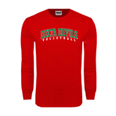 State Red Long Sleeve T Shirt-Volleyball