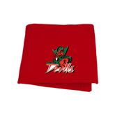 State Red Sweatshirt Blanket-Devils