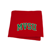 State Red Sweatshirt Blanket-Arched MVSU