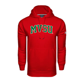 State Under Armour Red Performance Sweats Team Hoodie-Arched MVSU