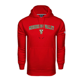 State Under Armour Red Performance Sweats Team Hoodie-Arched Mississippi Valley