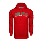 State Under Armour Red Performance Sweats Team Hoodie-Arched Delta Devils