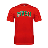 State Syntrel Performance Red Tee-Arched MVSU