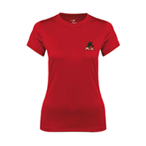 State Ladies Syntrel Performance Red Tee-Devils