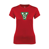 State Ladies Syntrel Performance Red Tee-VS