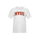 State Youth White T Shirt-Arched MVSU