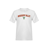 State Youth White T Shirt-Arched Mississippi Valley