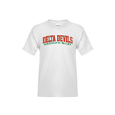 State Youth White T Shirt-Arched Delta Devils