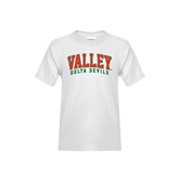 State Youth White T Shirt-Arched Valley Delta Devils