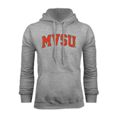 State Grey Fleece Hoodie-Arched MVSU