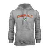 State Grey Fleece Hoodie-Arched Mississippi Valley