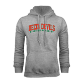 State Grey Fleece Hoodie-Arched Delta Devils