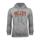 State Grey Fleece Hood-Arched Valley Delta Devils