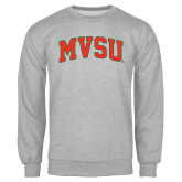 State Grey Fleece Crew-Arched MVSU