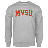 State Grey Fleece Crew-Arched MVSU
