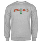State Grey Fleece Crew-Arched Mississippi Valley