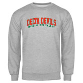 State Grey Fleece Crew-Arched Delta Devils