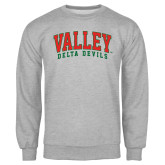 State Grey Fleece Crew-Arched Valley Delta Devils