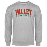 State Grey Fleece Crew-Arched Valley Delta Devils
