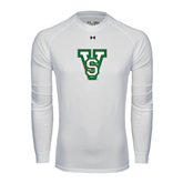 State Under Armour White Long Sleeve Tech Tee-VS