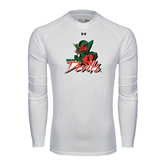 State Under Armour White Long Sleeve Tech Tee-Devils