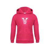 State Youth Raspberry Fleece Hoodie-VS