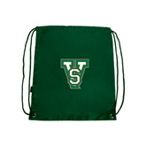 State Dark Green Drawstring Backpack-VS