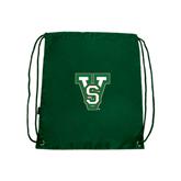 State Dark Green Drawstring Backpack-VS