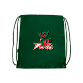 State Dark Green Drawstring Backpack-Devils