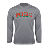 State Syntrel Performance Steel Longsleeve Shirt-Arched Delta Devils