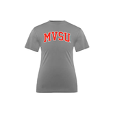 State Youth Performance Grey Concrete Tee-Arched MVSU