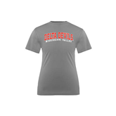 State Youth Performance Grey Concrete Tee-Arched Delta Devils