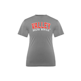 State Youth Performance Grey Concrete Tee-Arched Valley Delta Devils
