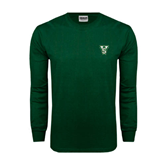 State Dark Green Long Sleeve T Shirt-VS