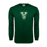 State Dark Green Long Sleeve T Shirt-VS