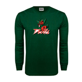 State Dark Green Long Sleeve T Shirt-Devils