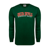 State Dark Green Long Sleeve T Shirt-Arched Delta Devils