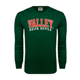State Dark Green Long Sleeve T Shirt-Arched Valley Delta Devils