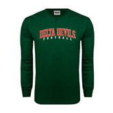 State Dark Green Long Sleeve T Shirt-Football