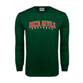 State Dark Green Long Sleeve T Shirt-Football
