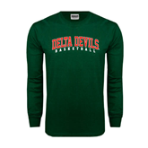 State Dark Green Long Sleeve T Shirt-Basketball