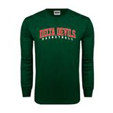 State Dark Green Long Sleeve T Shirt-Basketball