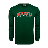 State Dark Green Long Sleeve T Shirt-Volleyball